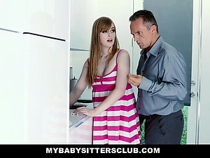 MyBabySittersClub - Babysitter Stuck In Sink Fucked By Boss